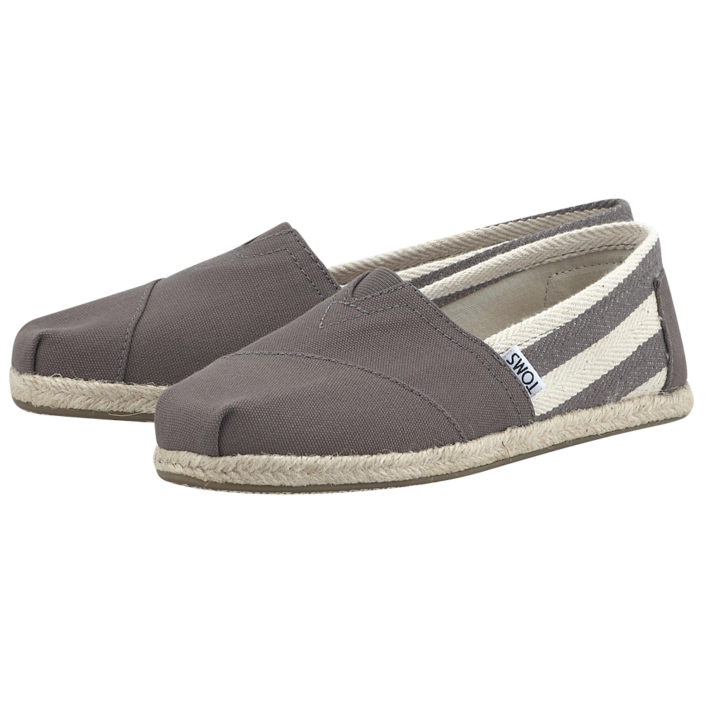 Toms - Toms Dk Grey Stripe University Wm Clsc Alprg 10005417 - ΓΚΡΙ ΣΚΟΥΡΟ