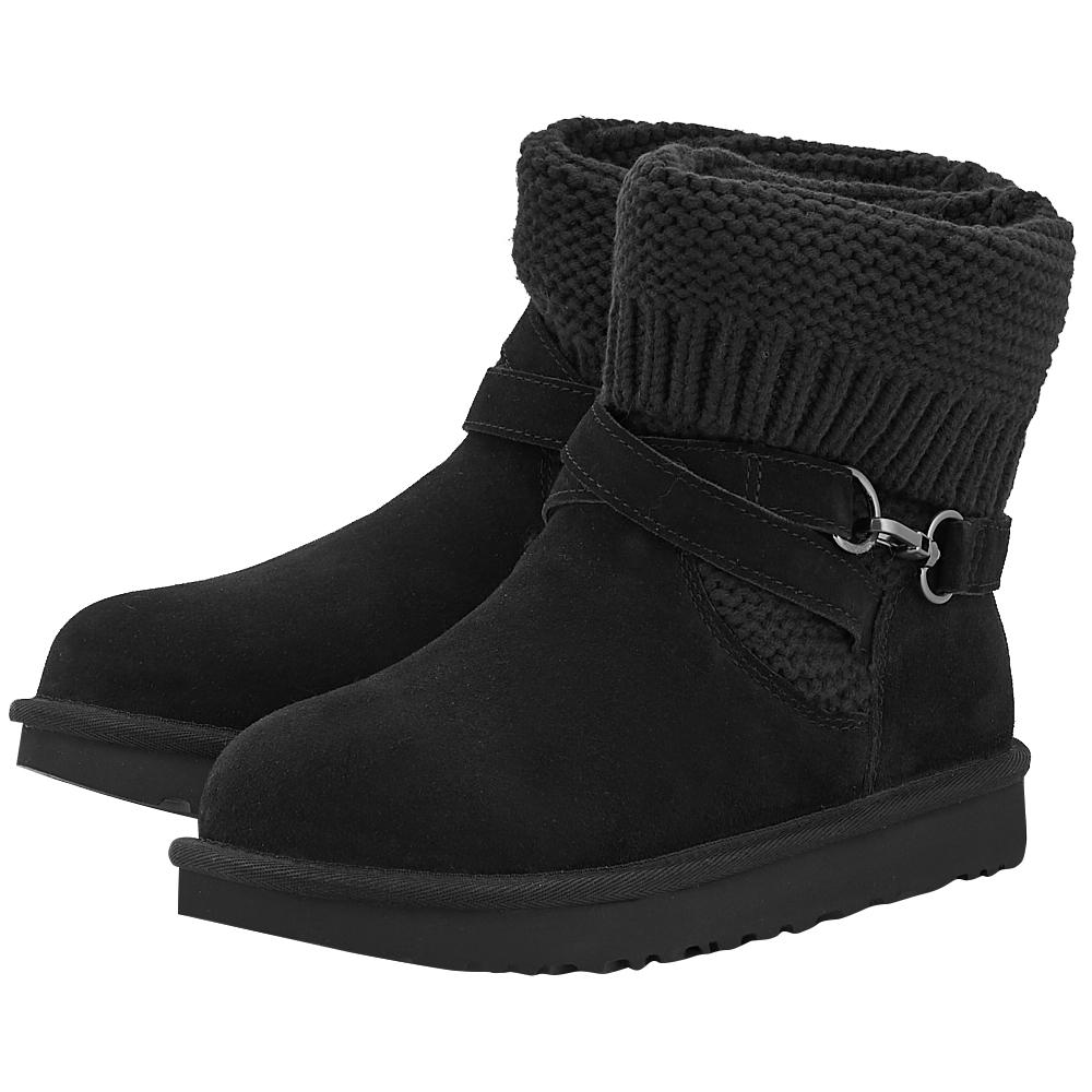 UGG - Ugg Purl Strap Boot 1098080-BLK - ΜΑΥΡΟ