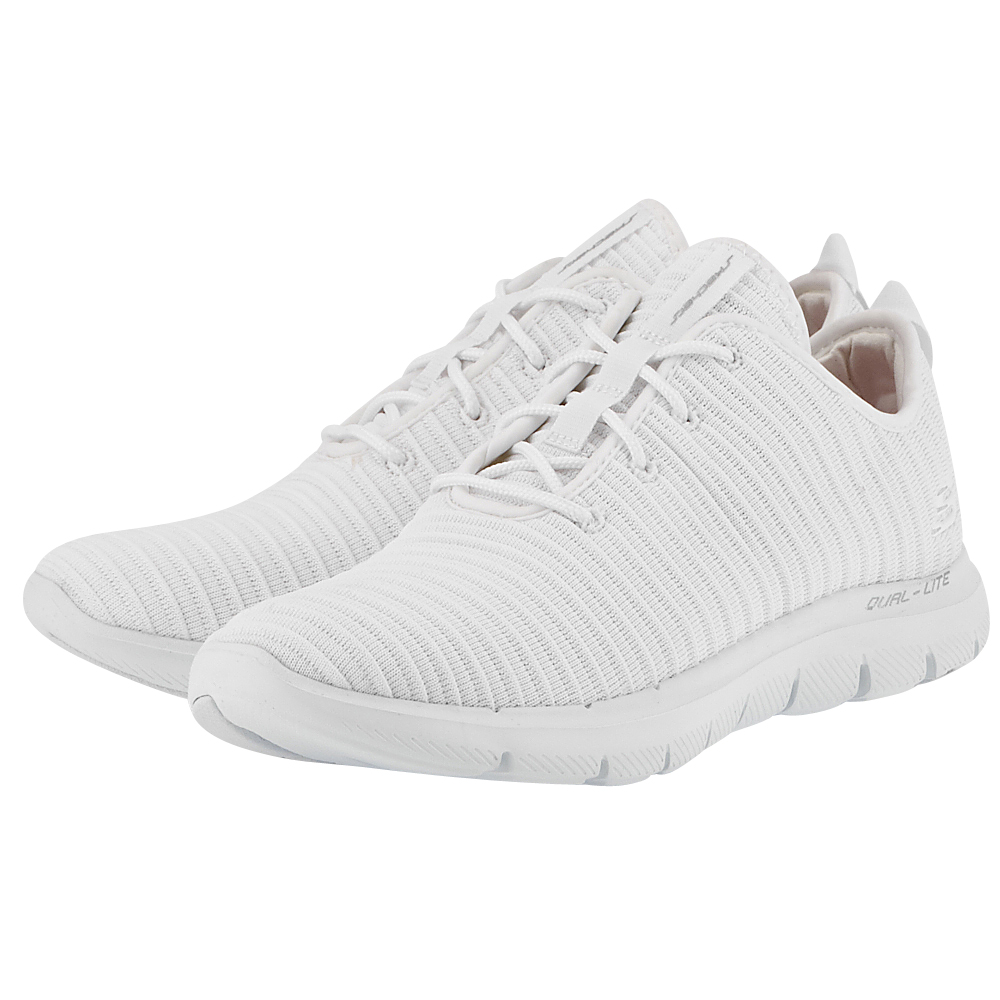 Skechers – Skechers Deconstructed Ribbed Knit Lace 12899WHT – ΛΕΥΚΟ
