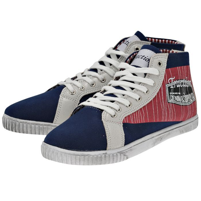 Traction - Traction 130-205092. - ΜΠΛΕ/ΚΟΚΚΙΝΟ outlet   ανδρικα   sneakers   mid cut