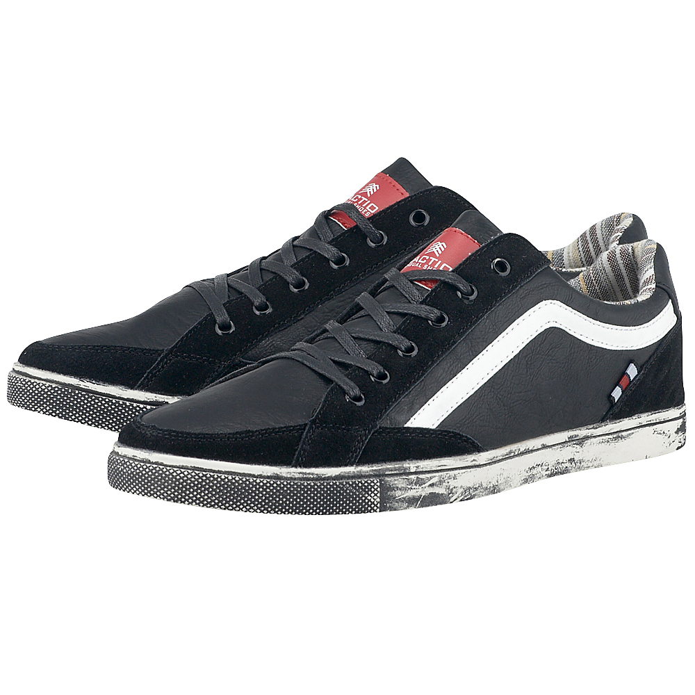 Traction - Traction 130-8004 - ΜΑΥΡΟ outlet   ανδρικα   sneakers   low cut