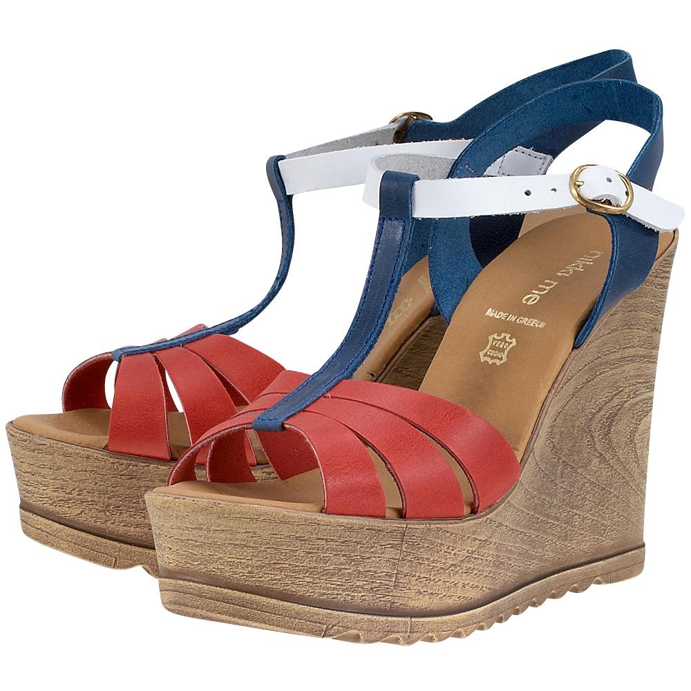 Handmade Sandals by nikki me - Handmade Sandals by nikki me 169-4226 - ΚΟΚΚΙΝΟ/ΜΠΛΕ