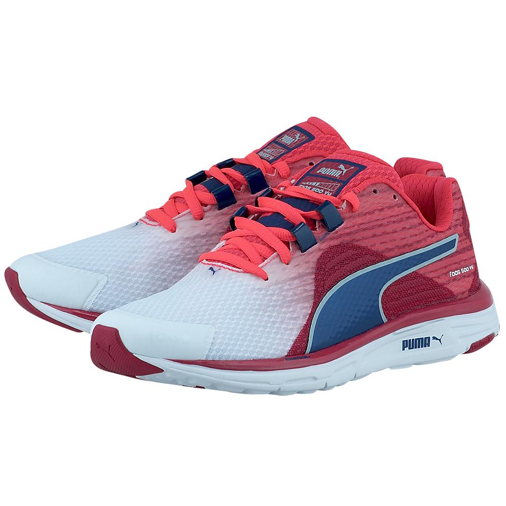 Puma - Puma Faas 500 V4 Wn 18752601-3 - ΛΕΥΚΟ/ΦΟΥΞΙΑ outlet   γυναικεια   αθλητικά   running