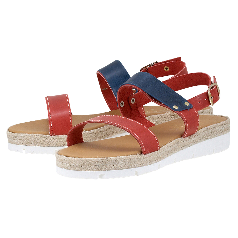 Handmade Sandals by nikki me – Handmade Sandals by nikki me 193-51799 – ΚΟΚΚΙΝΟ/ΜΠΛΕ