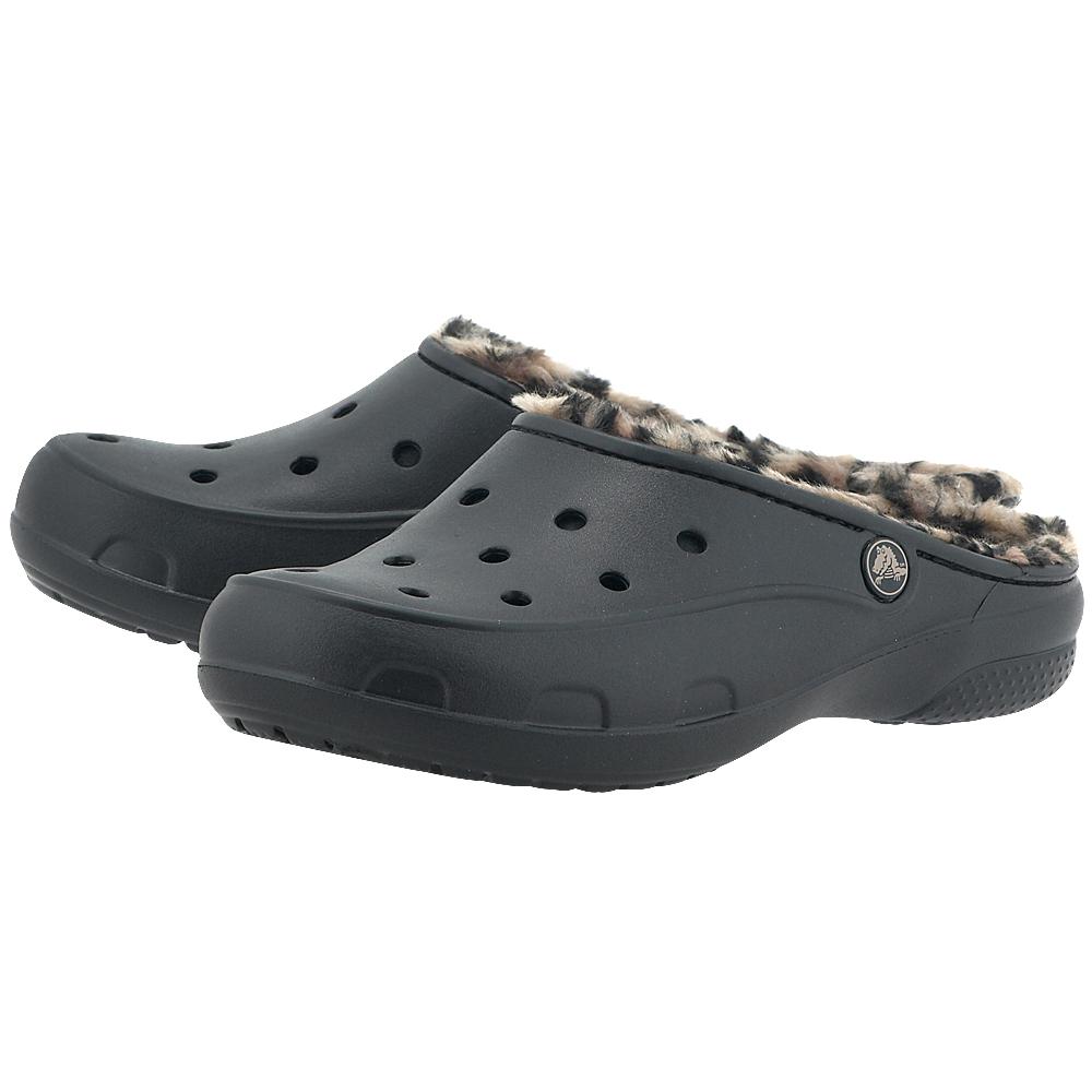 Crocs - Crocs Freesail Leopard Lined 202318-072 - ΜΑΥΡΟ