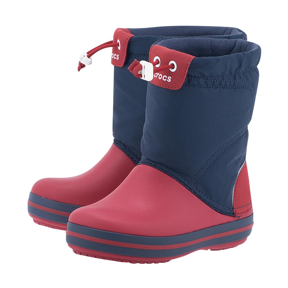 Crocs - Crocs Crocband LodgePoint Boot 203509-485 - ΜΠΛΕ/ΚΟΚΚΙΝΟ