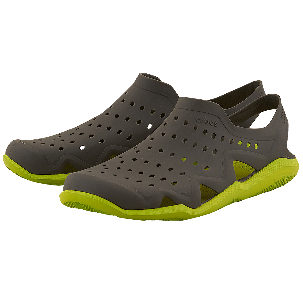Crocs – Crocs Swiftwater Wave 203963-0A1 – ΓΚΡΙ/ΠΡΑΣΙΝΟ