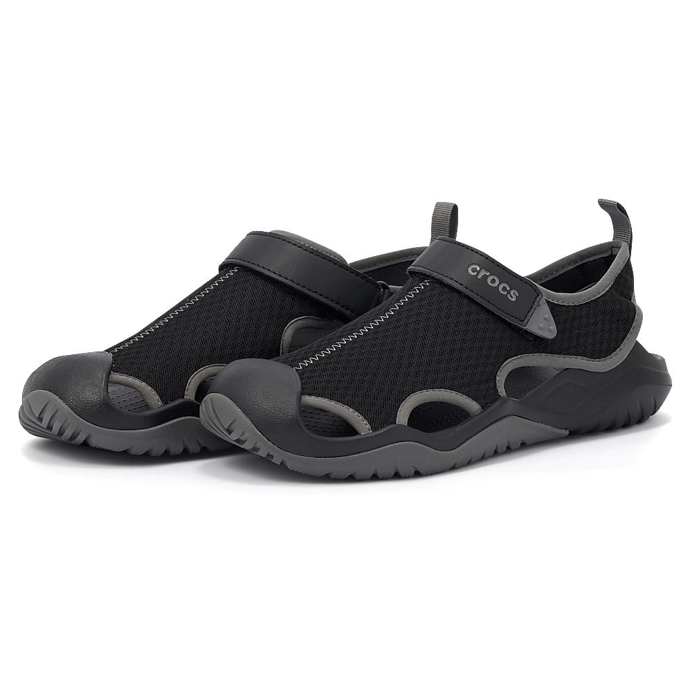 Crocs - Crocs Swiftwater Mesh Deck Sandal M 205289-001 - 00336