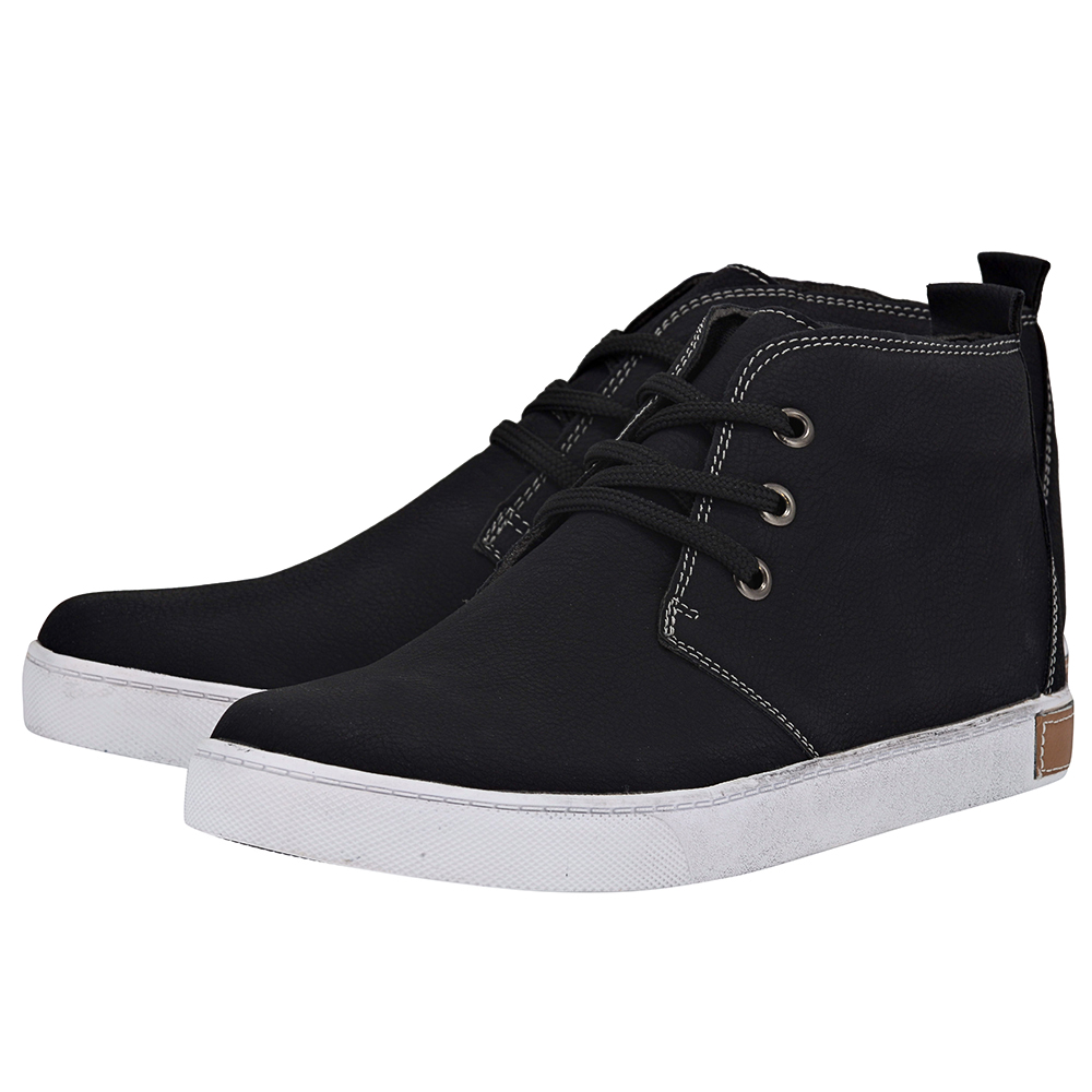 Eve & Adam - Eve & Adam 277102 - ΜΑΥΡΟ outlet   ανδρικα   sneakers   mid cut