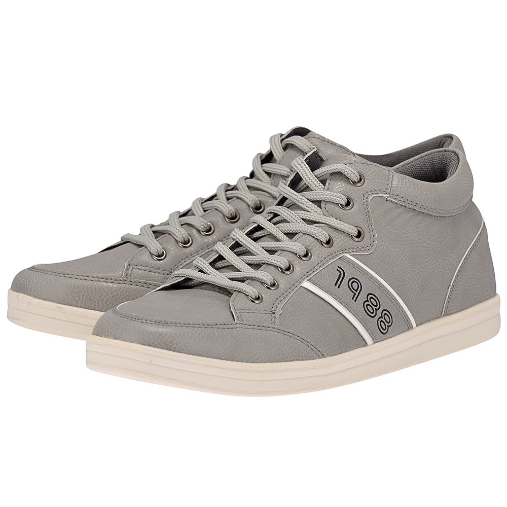 Eve & Adam - Eve & Adam 277303 - ΓΚΡΙ outlet   ανδρικα   sneakers   mid cut