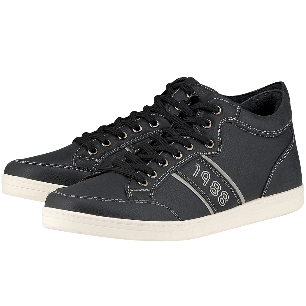 Eve & Adam - Eve & Adam 277303 - ΜΑΥΡΟ outlet   ανδρικα   sneakers   mid cut