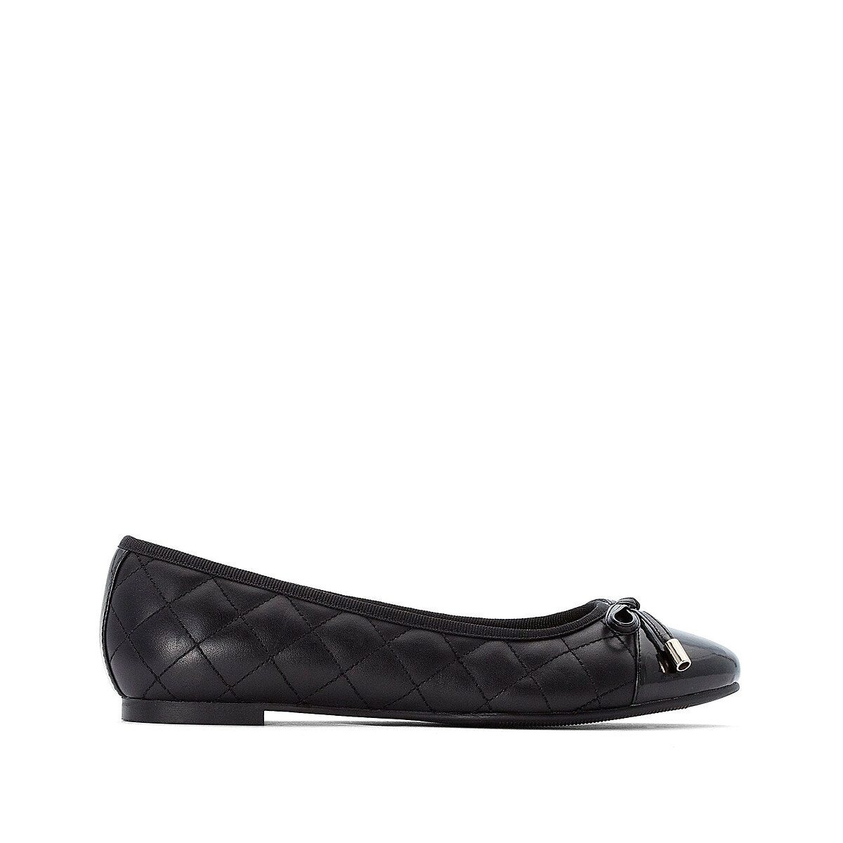 Anne Weyburn - Quilted Leather Ballet Pumps<br /> - 6527&0001