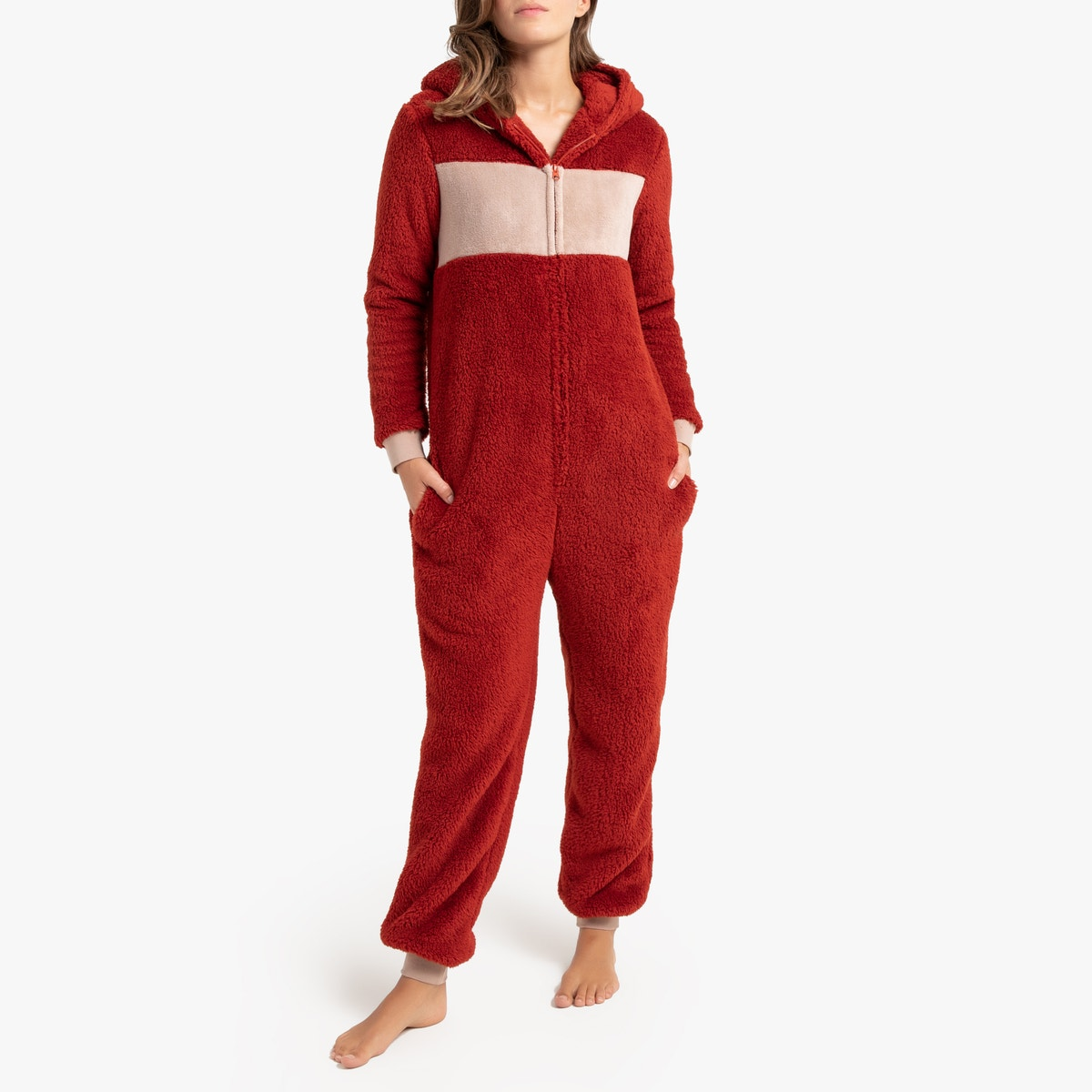 La Redoute Collections - Ολόσωμη πιτζάμα με κουκούλα σε μορφή αλεπούς 350148267 - 9433