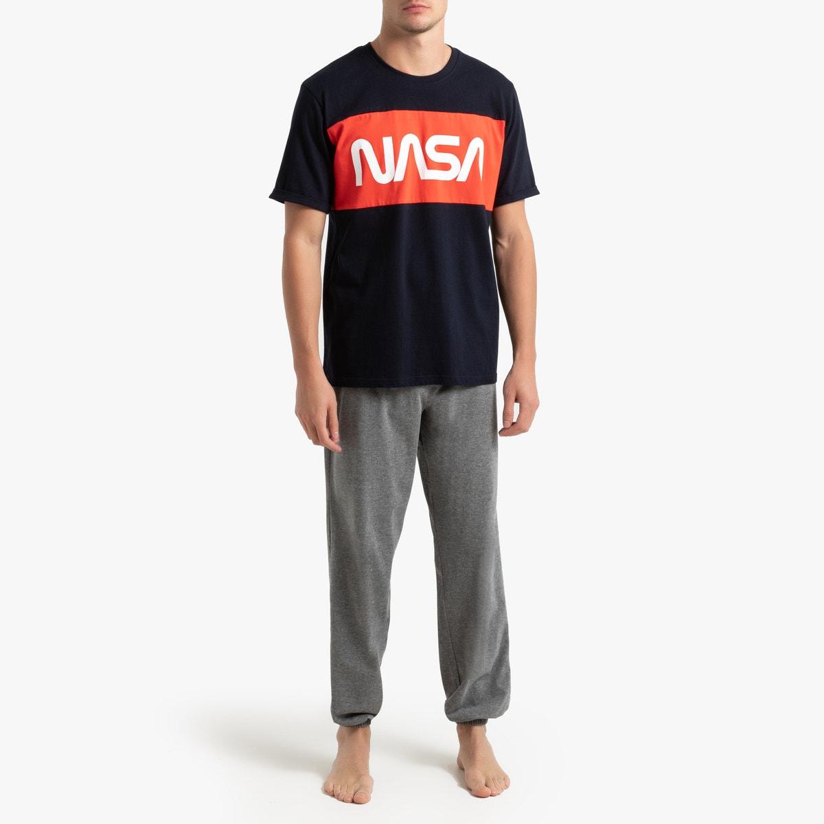 Nasa - Πιτζάμα με κοντομάνικη μπλούζα και μακρύ παντελόνι 350159023 - 10505