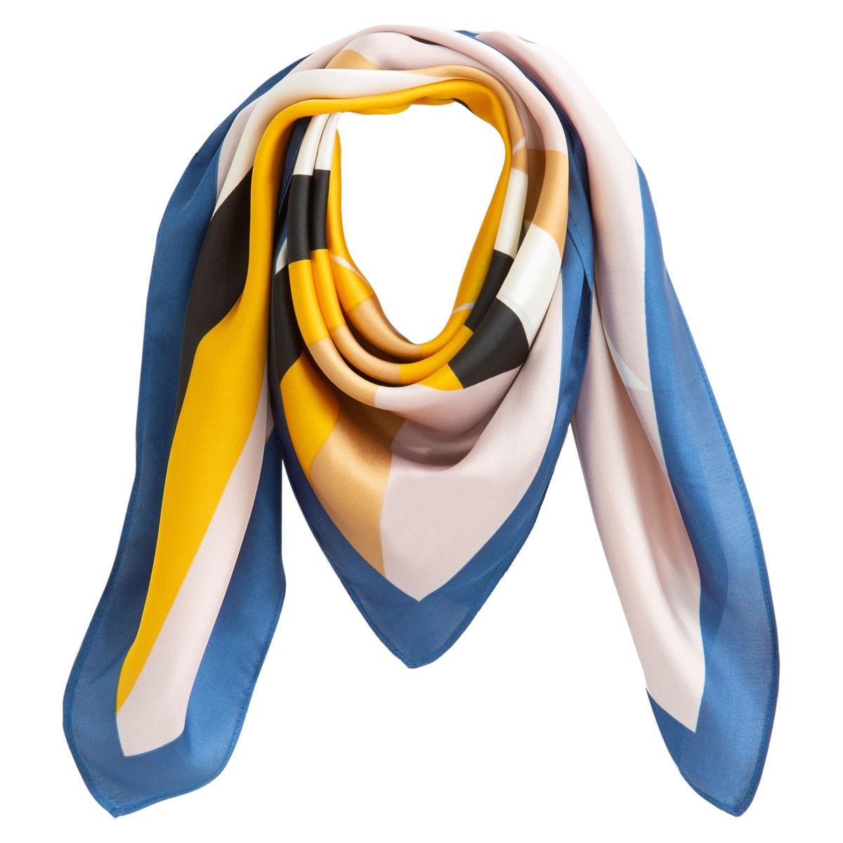 La Redoute Collections - Πολύχρωμο φουλάρι με γεωμετρικά μοτίβα 350172323 - 4746