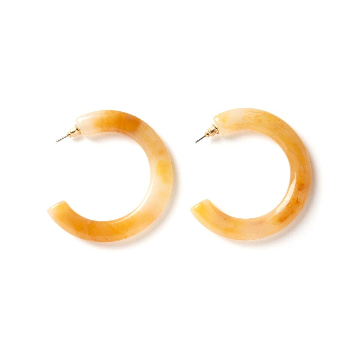 La Redoute Collections - Κρεμαστά σκουλαρίκια σε σχήμα ανοιχτού κρίκου 350174023 - 5485