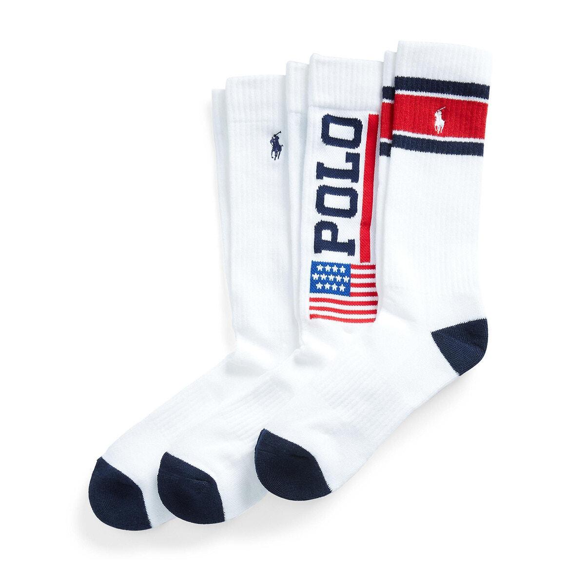 Polo Ralph Lauren - Σετ 3 ζευγάρια βαμβακερές αθλητικές κάλτσες 350185832 - 501