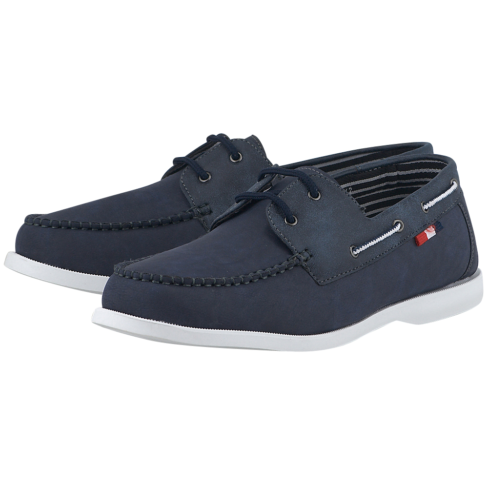Levon - Levon 351-215. - ΜΠΛΕ outlet   ανδρικα   loafers   με κορδόνι
