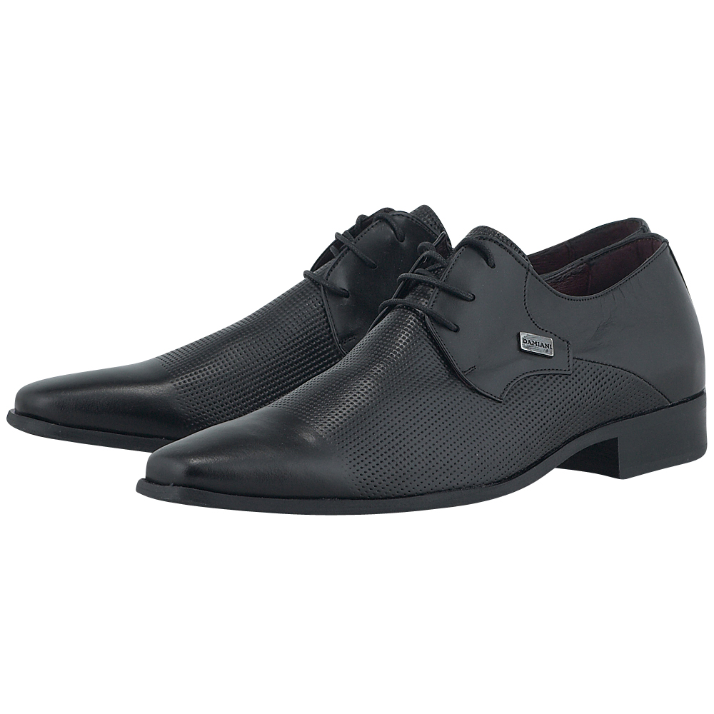 Damiano Damiani - Damiano Damiani 38-222. - ΜΑΥΡΟ outlet   ανδρικα   loafers   με κορδόνι