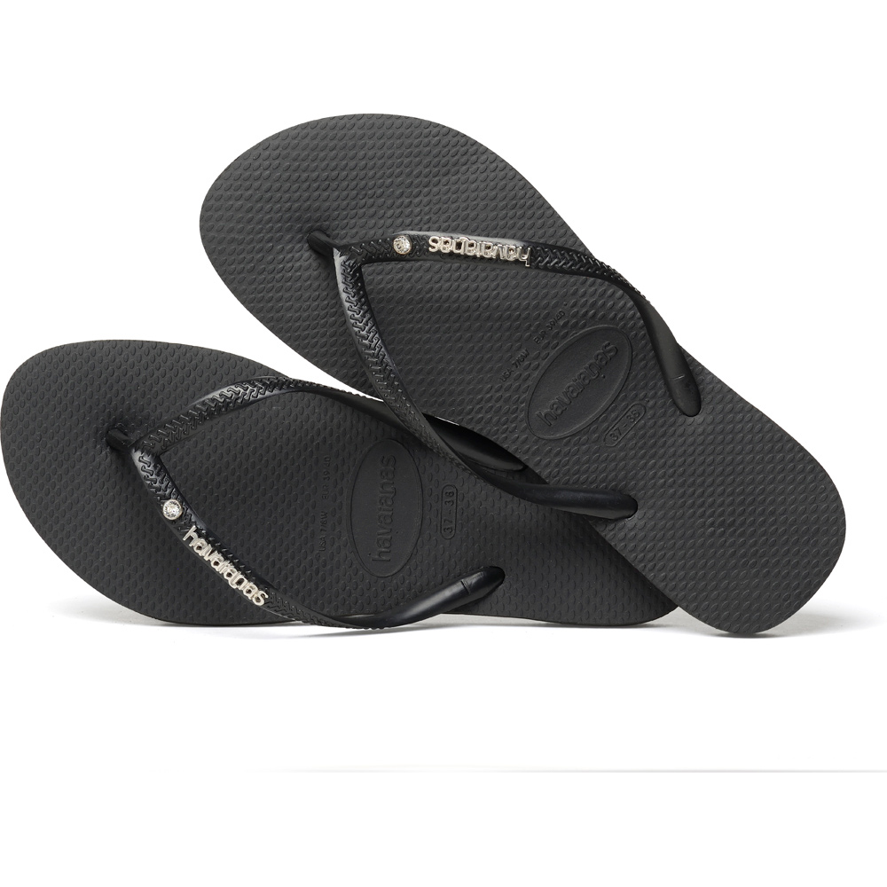 Havaianas - Havaianas Slim Metal Logo And Crystal 4129769-0090 - 00336