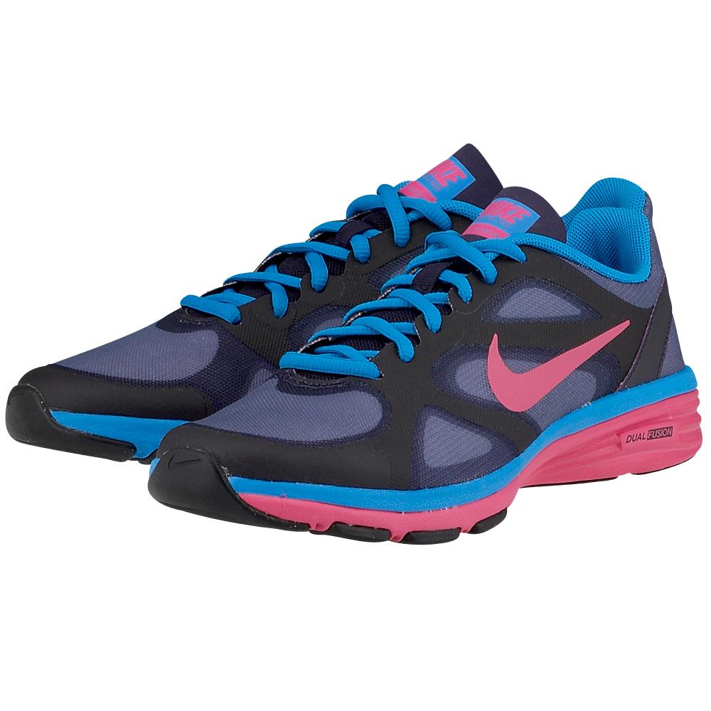 Nike  Dual fusion tr 4438375033 ΜΑΥΡΟ/ΜΠΛΕ Γυναικείο runningτης εταιρείαςNike,από mesh και συνθετικό δέρμα για μεγαλύτερη αντοχή και στυλ. Η εσωτερική υφασμάτινη επένδυση με μαξιλαράκι