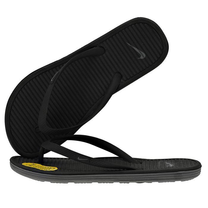Nike - Nike Solarsoft Thong II 488161010-3. - ΜΑΥΡΟ