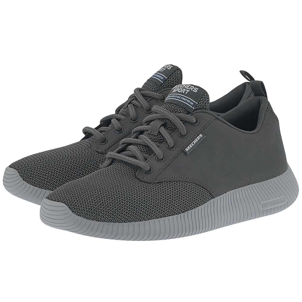 Skechers – Skechers Qtr Overlay & Two-Toned Mesh L 52398CHAR – ΓΚΡΙ ΣΚΟΥΡΟ