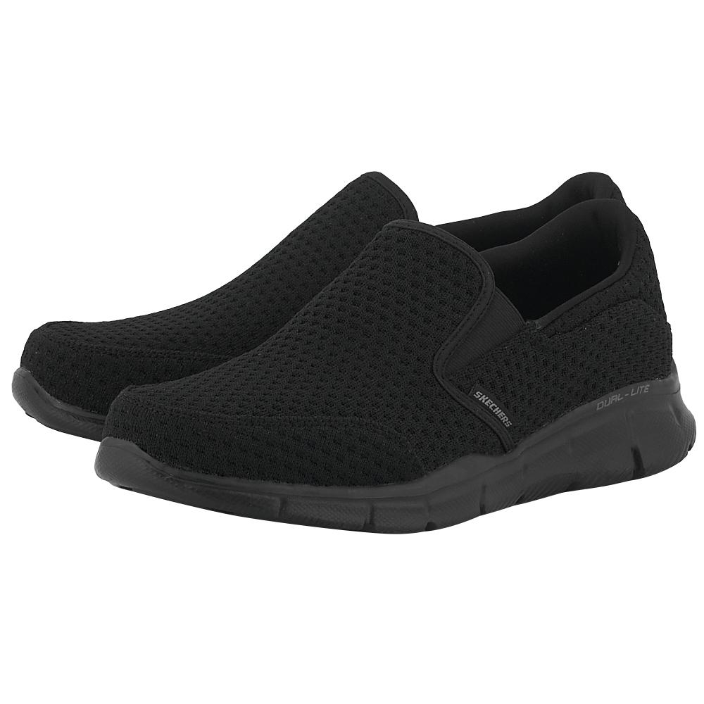 Skechers – Skechers Flat Knit Slip-On W Air- Cool 52745BBK – ΜΑΥΡΟ
