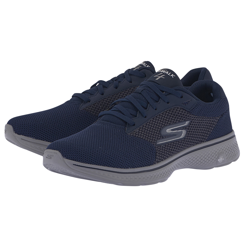 Skechers - Skechers Dual Textured Knit Lace Up 54150NVGY - ΜΠΛΕ ΣΚΟΥΡΟ