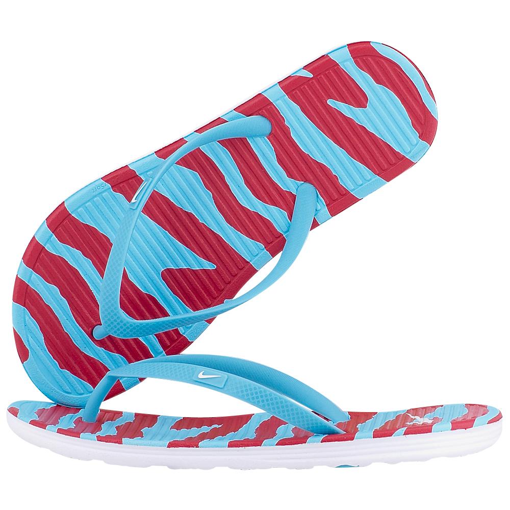 Nike – Nike Wmns Solarsoft Thong II 553486414-3 – ΣΙΕΛ/ΚΟΚΚΙΝΟ