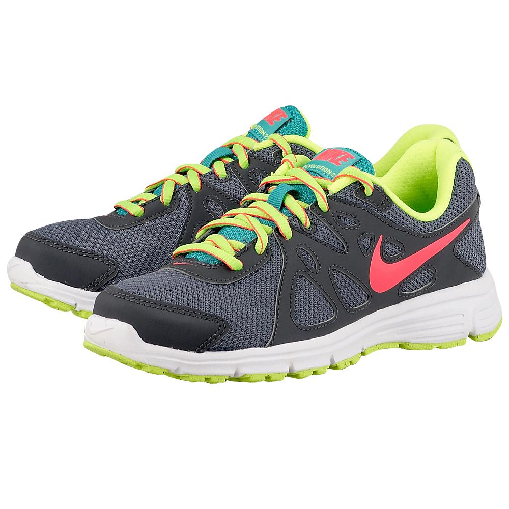 Nike – Nike Revolution 2 554901026-3. – ΓΚΡΙ/ΜΑΥΡΟ