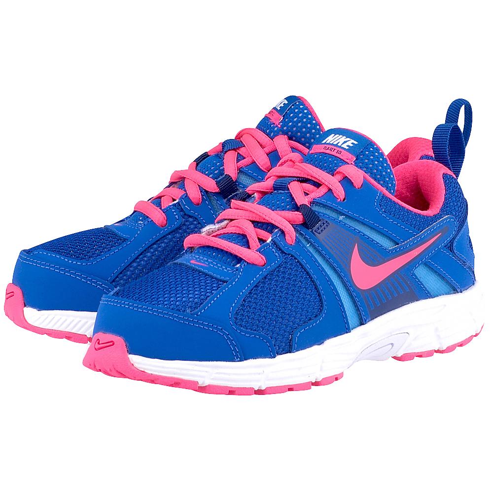 Nike  Dart 10 5804634022 ΡΟΥΑ/ΦΟΥΞΙΑ Παιδικό αθλητικό υπόδημααπό τηνNike, σε μπλε απόχρωση και φούξια λεπτομέρειες από μαλακό δέρμα για μέγστη αντοχή. Με κορδόνια για τέλεια ε