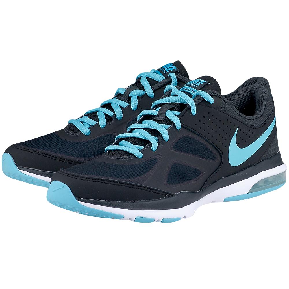 Nike  Wmns Air Sculpt Tr 6307350053. ΜΑΥΡΟ/ΣΙΕΛ Γυναικεία αθλητικά running παπούτσια από την Nike,διάτρητα και με πλέγμα mesh για καλύτερη κυκλοφορία του αέρα, με λεπτομέρειες από συνθετικό δέ