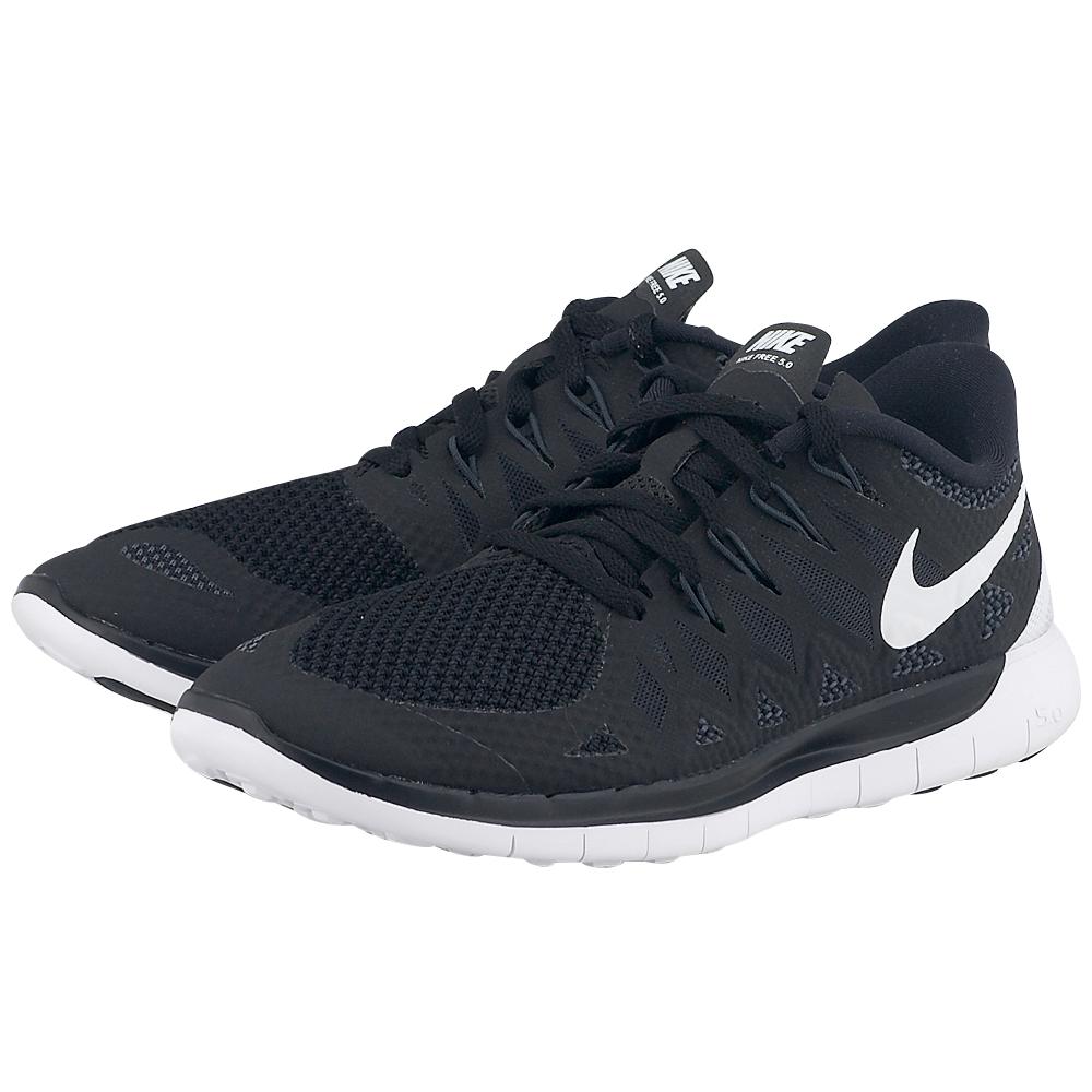 Nike - Nike Free 5.0 642199001-3 - ΜΑΥΡΟ/ΛΕΥΚΟ