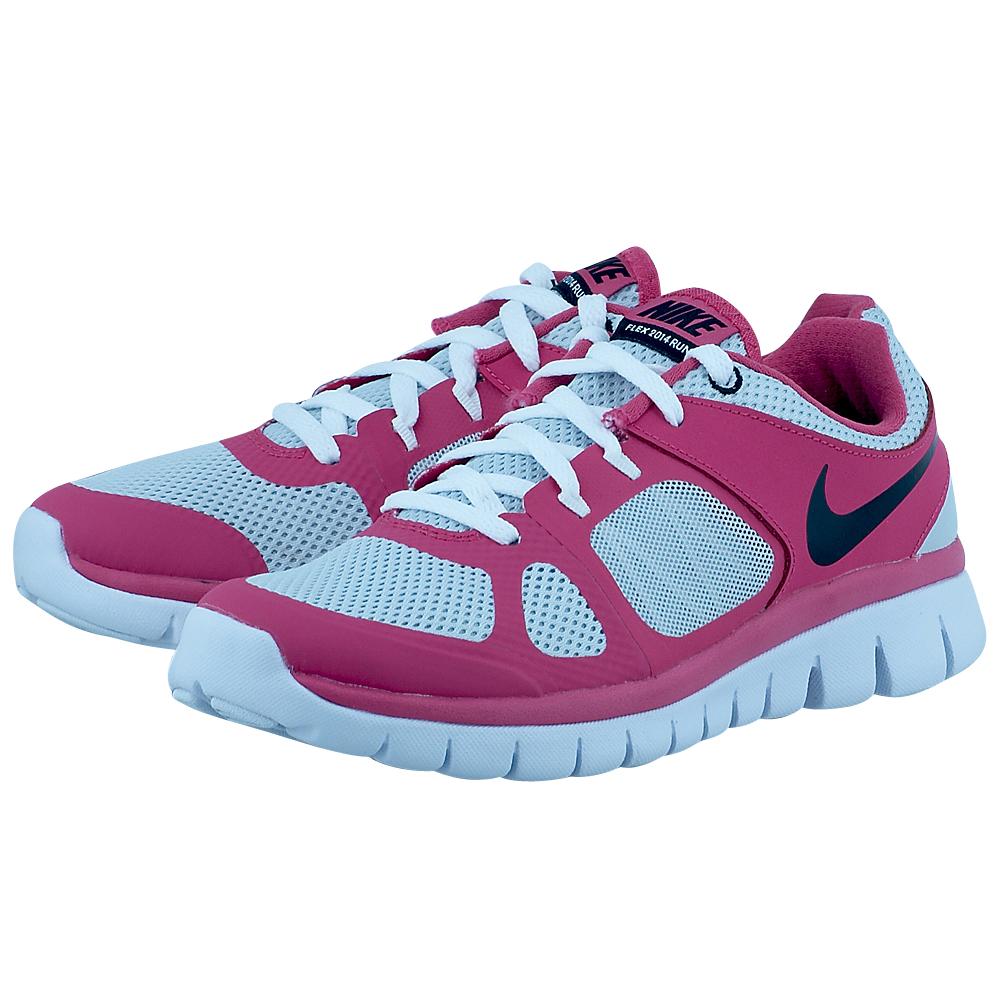 Nike - Nike Flex 2014 Rn 642755005-3 - ΓΚΡΙ/ΦΟΥΞΙΑ Nike