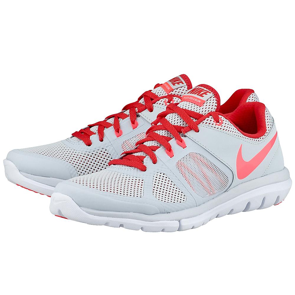 Nike - Nike Flex Run 642767011-3 - ΓΚΡΙ/ΚΟΚΚΙΝΟ