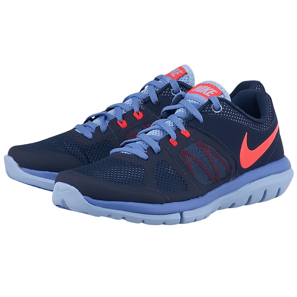 Nike - Nike Wmns Flex 2014 Rn 642780403-3 - ΜΠΛΕ ΣΚΟΥΡΟ