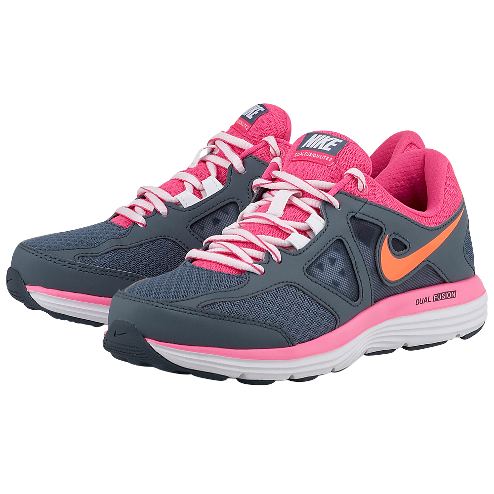 Nike - Nike Dual Fusion Lite 2 Msl 642826403-3 - ΓΚΡΙ/ΡΟΖ outlet   γυναικεια   αθλητικά   running