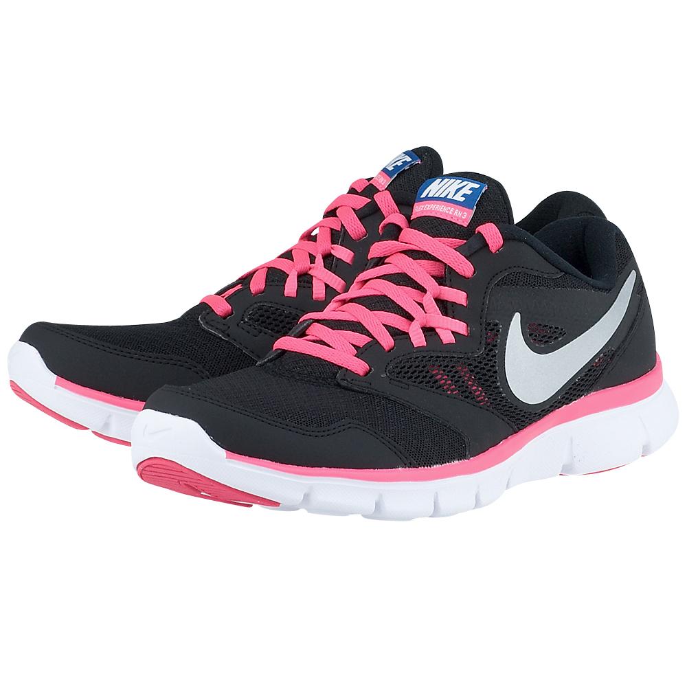 Nike  Flex Experience 3 MLS 6528580043 ΜΑΥΡΟ Γυναικεία αθλητικά παπούτσια running της Nike, σε μαύρη απόχρωση, από mesh για καλύτερη αναπνοή και άνετη εφαρμογή, με λεπτομέρειες από συνθετικό