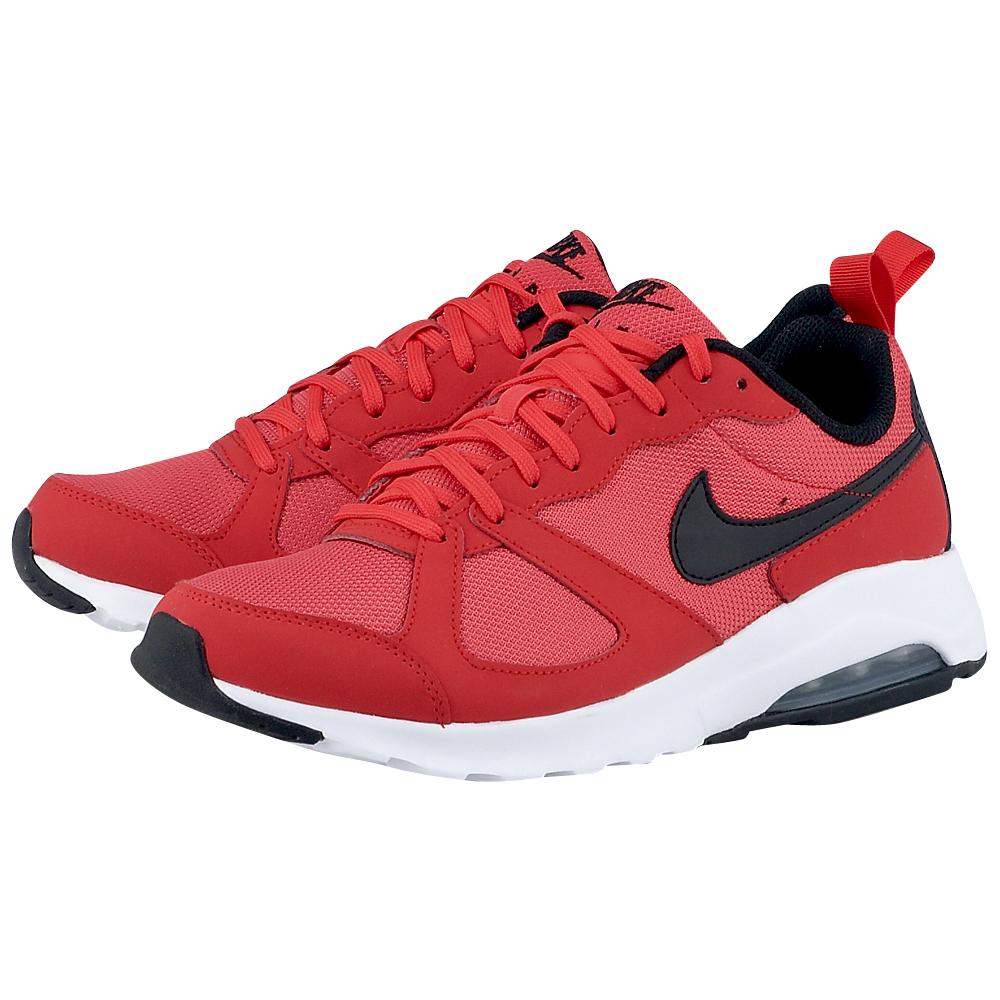 Nike  Air Max Muse 6529816014 ΚΟΚΚΙΝΟ Ανδρικά αθλητικά low cut παπούτσια από την Nike, σε κόκκινη απόχρωση, από mesh για καλύτερη κυκλοφορία του αέρα και λεπτομέρειες από δέρμα για αντ