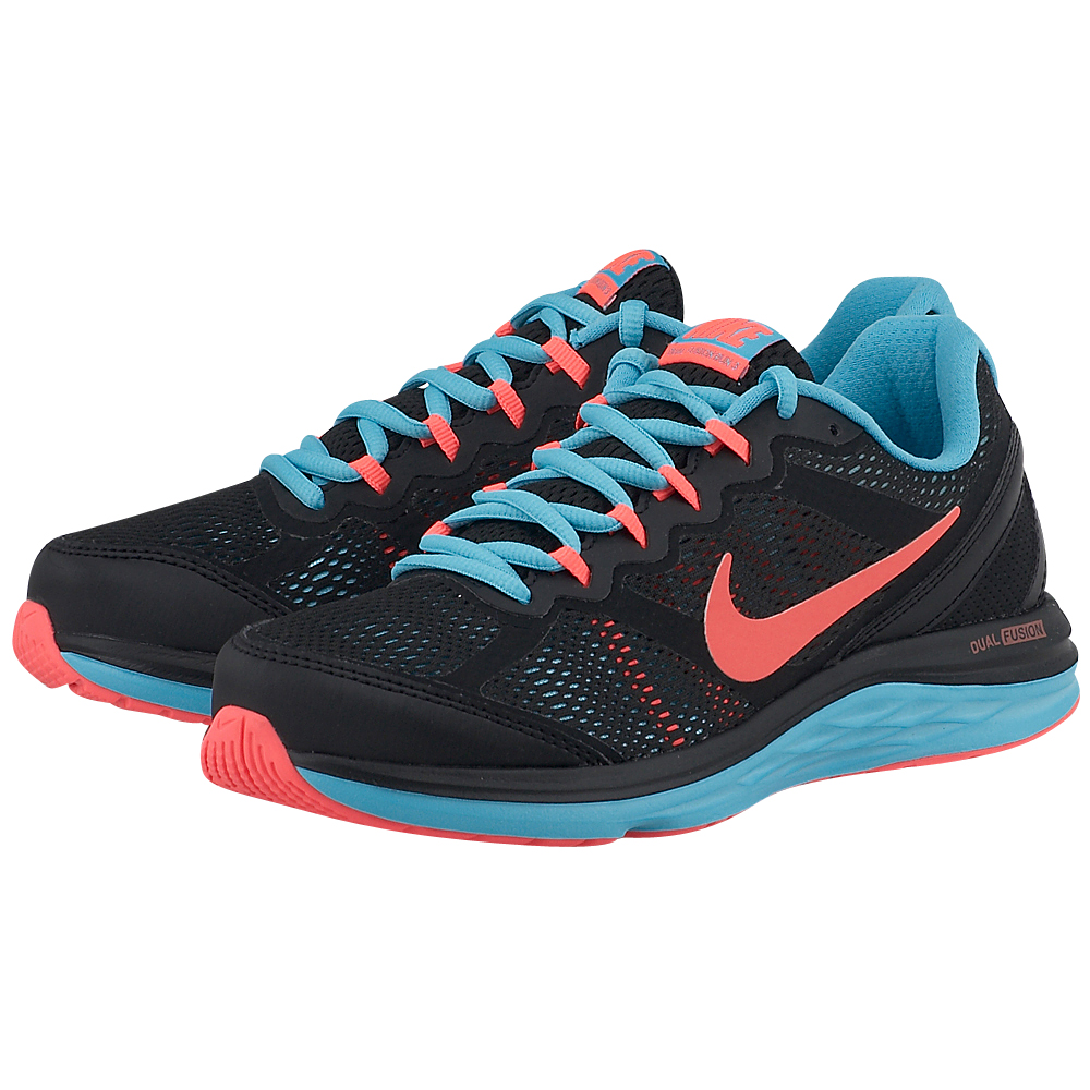 Nike - Nike Dual Fusion Run 3 Msl 654446009-3 - ΜΑΥΡΟ/ΡΟΥΑ outlet   γυναικεια   αθλητικά   running