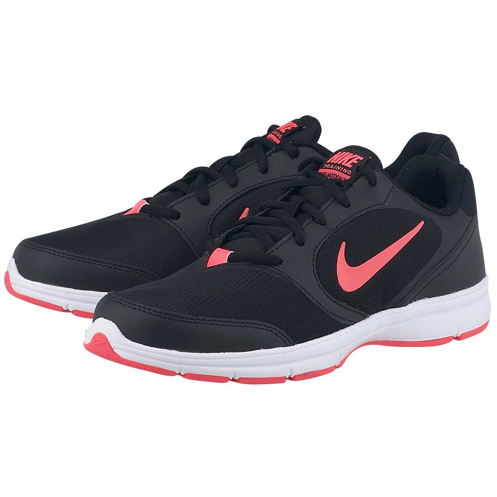Nike  Core Motion TR Mesh 6549340043 ΜΑΥΡΟ Γυναικεία αθλητικά low cut παπούτσια από την Nike, σε μαύρη απόχρωση, από mesh για καλύτερη αναπνοή και συνθετικό δέρμα για άριστη προστασία, στυλ