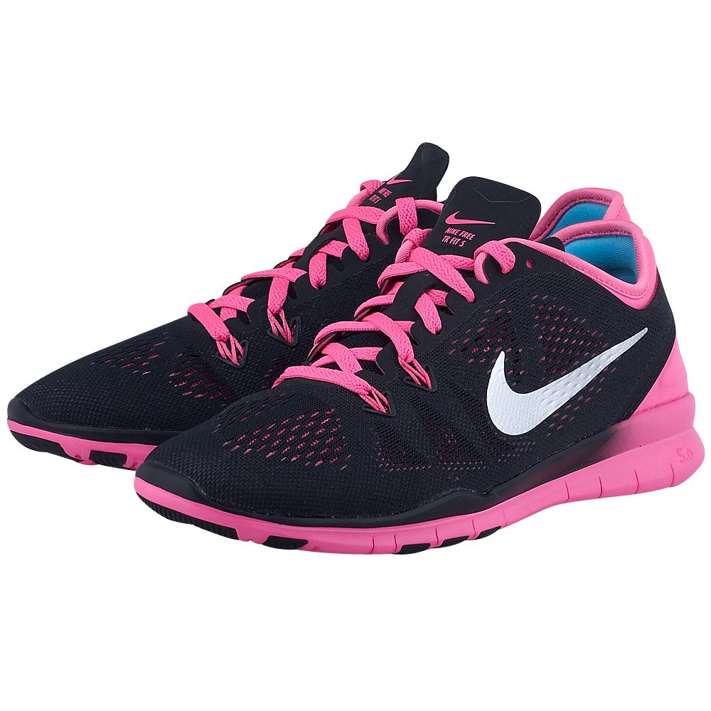 Nike - Nike Wmns Free 5.0 704674002-3 - ΜΑΥΡΟ/ΡΟΖ