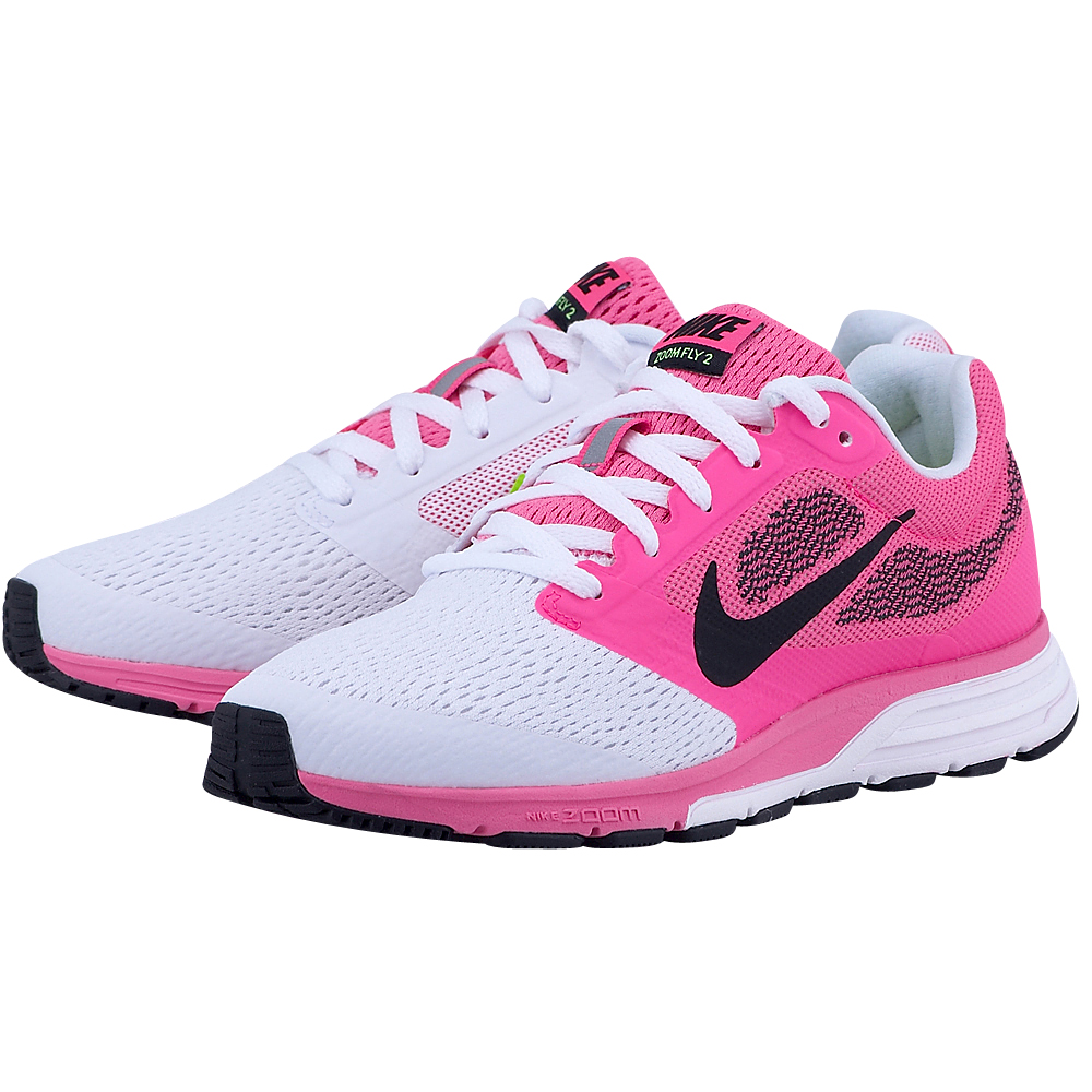 Nike - Nike Air Zoom Fly 2 707607602-3 - ΛΕΥΚΟ/ΦΟΥΞΙΑ