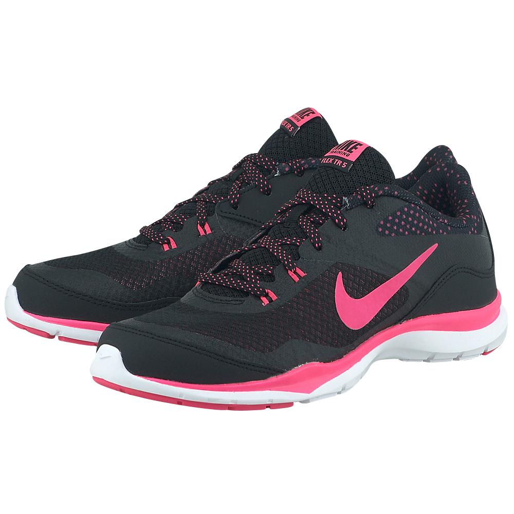 Nike - Nike Flex Trainer 5 Print 749184018-3 - ΜΑΥΡΟ/ΦΟΥΞΙΑ
