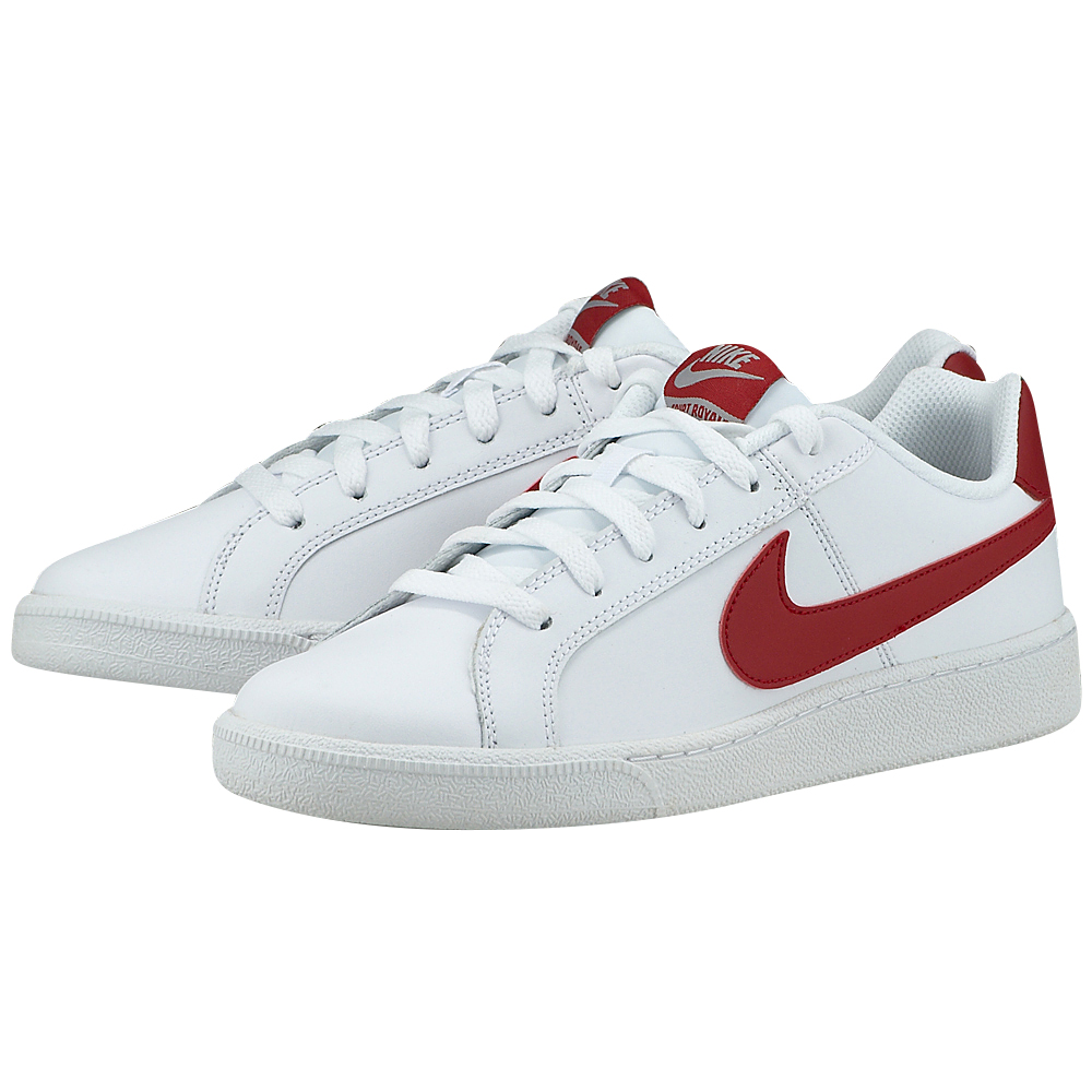 Nike - Nike Men's Court Royale Shoe 749747-103 - ΛΕΥΚΟ-ΚΟΚΚΙΝΟ