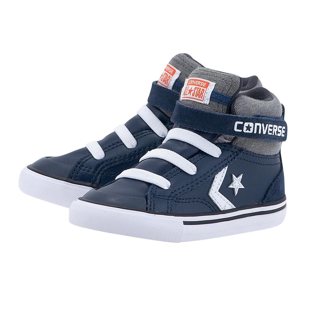 Converse – Converse Pro Blaze Strap Stretch Hi 758164C – ΜΠΛΕ/ΓΚΡΙ