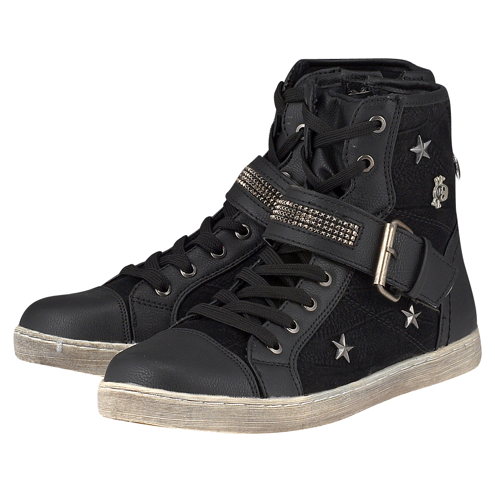 Skills - Skills 770452. - ΜΑΥΡΟ outlet   γυναικεια   sneakers   mid cut