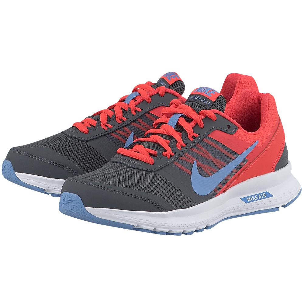 Nike - Nike Air Relentless 5 807098006-3 - ΓΚΡΙ/ΚΟΚΚΙΝΟ