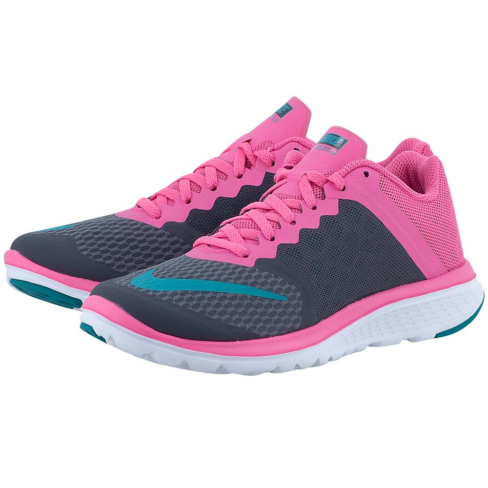 Nike - Nike FS Lite Run 3 807145011-3 - ΓΚΡΙ/ΡΟΖ